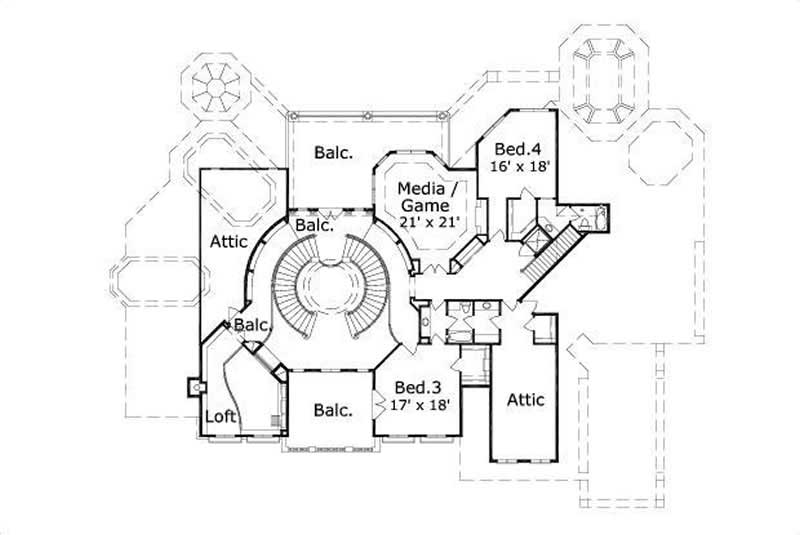 Mediterranean House Plans Home Design Ohp 20372 15239