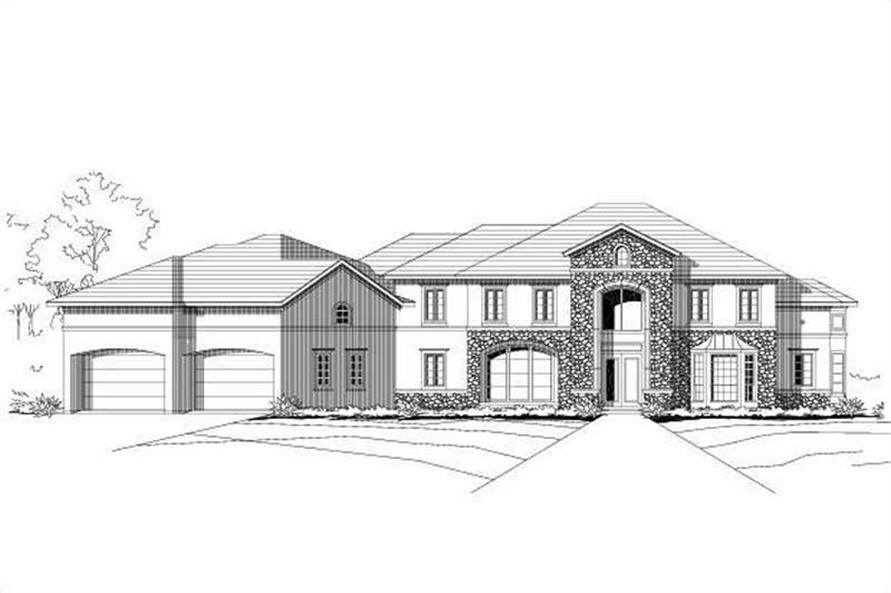 5-Bedroom, 5465 Sq Ft Contemporary House Plan - 156-1838 - Front Exterior