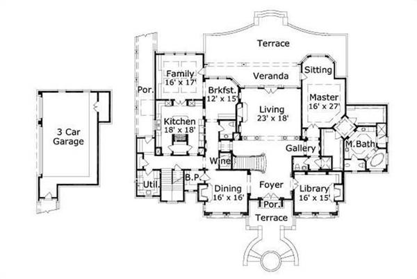 HOME PLAN NUMBER 31006 FIRST STORY FLOOR PLAN