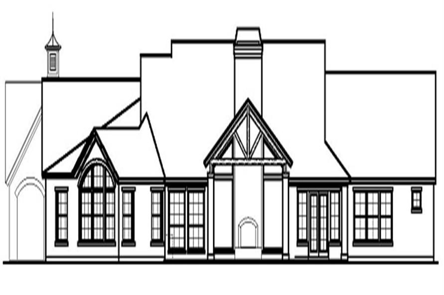 Home Plan Rear Elevation of this 3-Bedroom,3737 Sq Ft Plan -156-1841