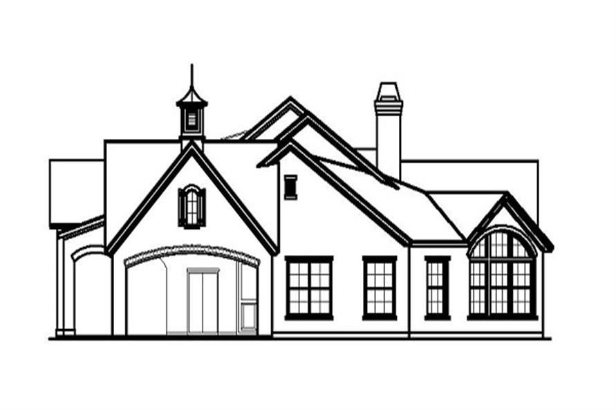 Home Plan Right Elevation of this 3-Bedroom,3737 Sq Ft Plan -156-1841