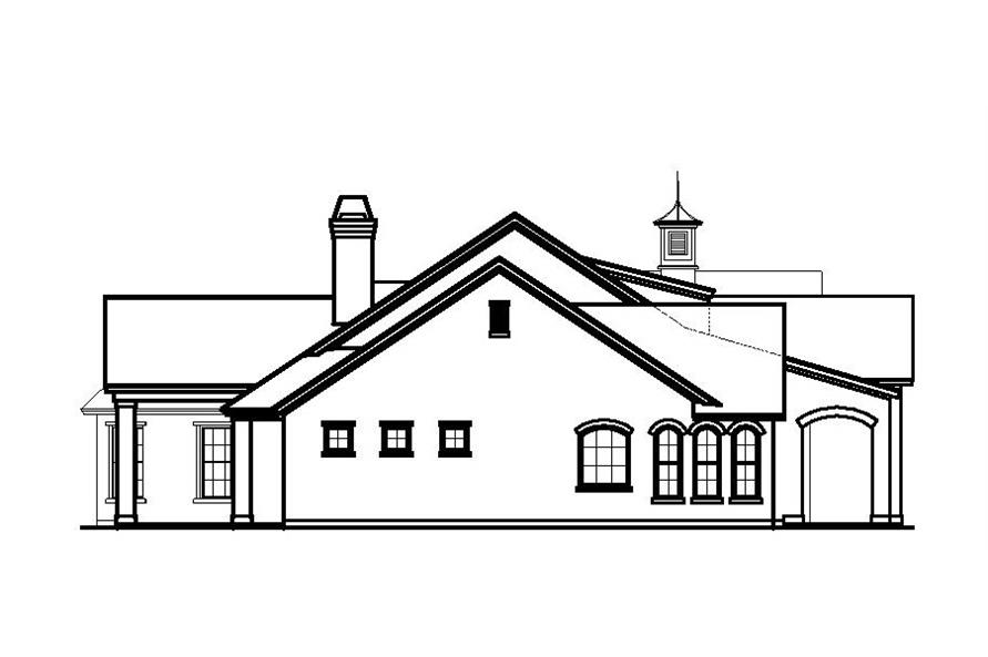 Home Plan Left Elevation of this 3-Bedroom,3737 Sq Ft Plan -156-1841