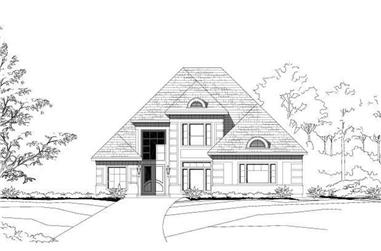 4-Bedroom, 3747 Sq Ft Contemporary House Plan - 156-1842 - Front Exterior