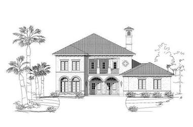4-Bedroom, 3760 Sq Ft Mediterranean House Plan - 156-1843 - Front Exterior
