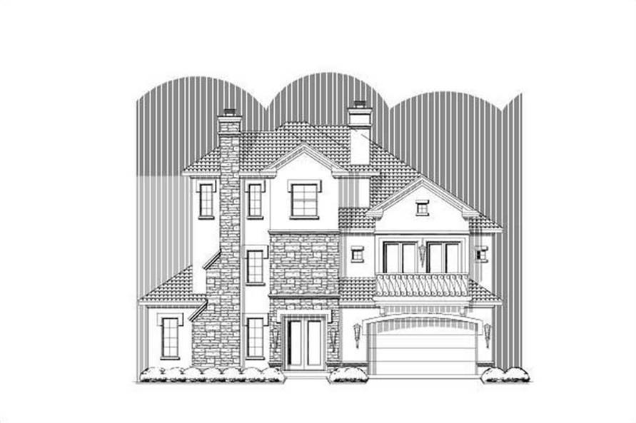 3-Bedroom, 3845 Sq Ft Luxury House Plan - 156-1844 - Front Exterior