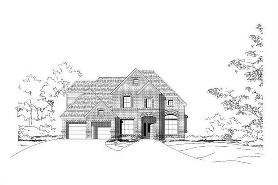 4-Bedroom, 2951 Sq Ft Traditional House Plan - 156-1845 - Front Exterior