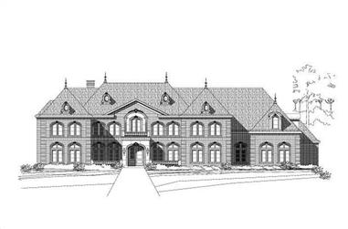 5-Bedroom, 9765 Sq Ft French House Plan - 156-1846 - Front Exterior