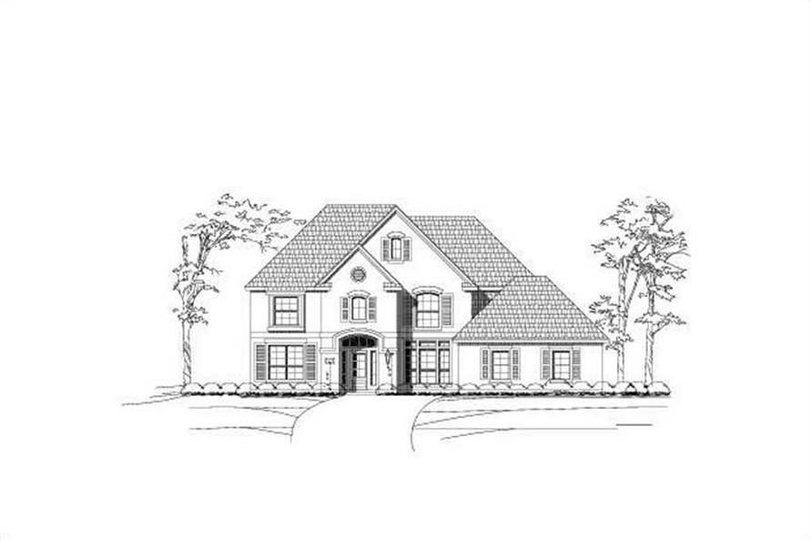 4-Bedroom, 3796 Sq Ft Luxury Home Plan - 156-1848 - Main Exterior
