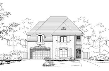 4-Bedroom, 3746 Sq Ft Country House Plan - 156-1849 - Front Exterior