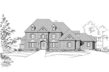 4-Bedroom, 5898 Sq Ft Luxury House Plan - 156-1850 - Front Exterior