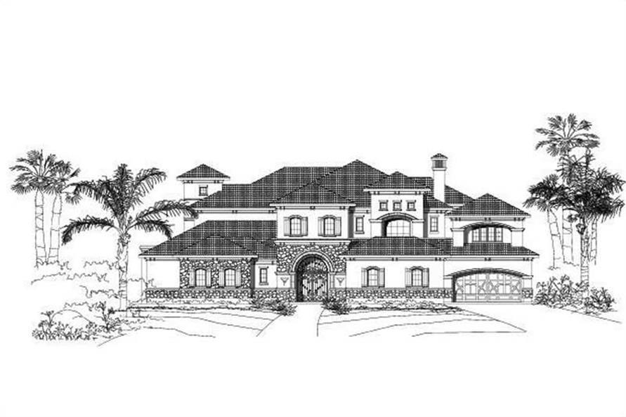 5-Bedroom, 7633 Sq Ft Spanish Home Plan - 156-1852 - Main Exterior