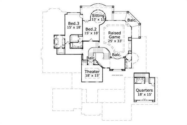 HOME PLAN NUMBER 20079 SECOND STORY FLOOR PLAN