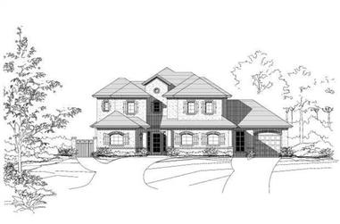 3-Bedroom, 2944 Sq Ft Country Home Plan - 156-1853 - Main Exterior