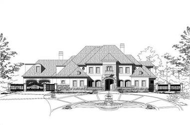 5-Bedroom, 7053 Sq Ft Country Home Plan - 156-1854 - Main Exterior