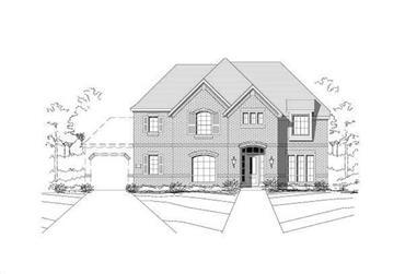 4-Bedroom, 3678 Sq Ft Luxury Home Plan - 156-1855 - Main Exterior