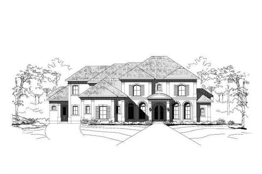 4-Bedroom, 6491 Sq Ft Luxury House Plan - 156-1857 - Front Exterior