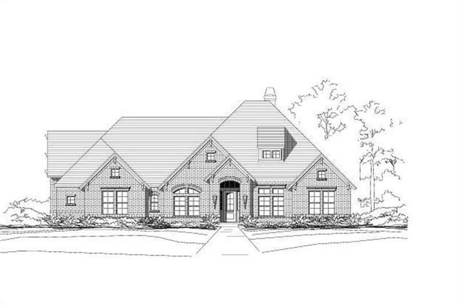 4-Bedroom, 3264 Sq Ft Ranch Home Plan - 156-1858 - Main Exterior
