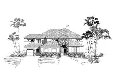 5-Bedroom, 4688 Sq Ft Luxury House Plan - 156-1859 - Front Exterior
