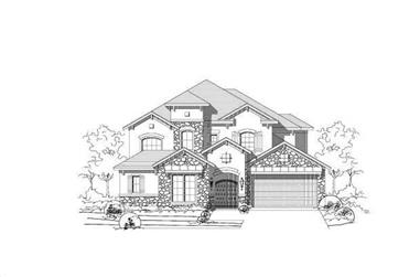 5-Bedroom, 4594 Sq Ft Home Plan - 156-1860 - Main Exterior