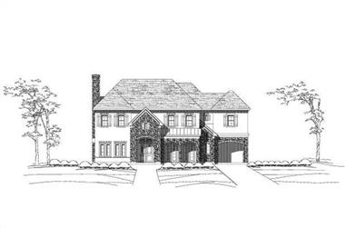 5-Bedroom, 5198 Sq Ft Luxury Home Plan - 156-1861 - Main Exterior