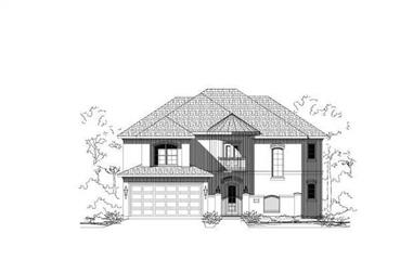 4-Bedroom, 3111 Sq Ft Traditional Home Plan - 156-1862 - Main Exterior
