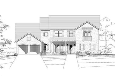 4-Bedroom, 3820 Sq Ft Country House Plan - 156-1863 - Front Exterior