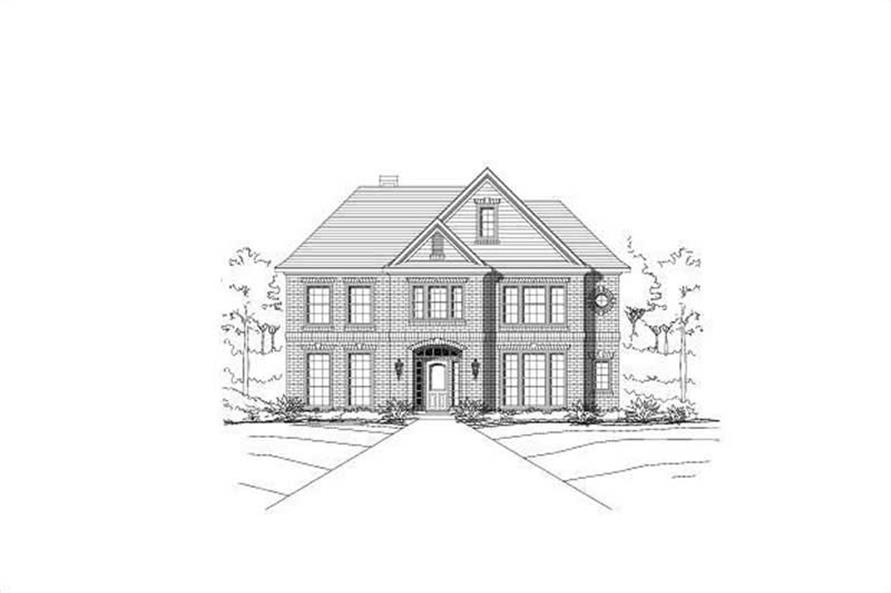 4-Bedroom, 3233 Sq Ft Traditional Home Plan - 156-1865 - Main Exterior