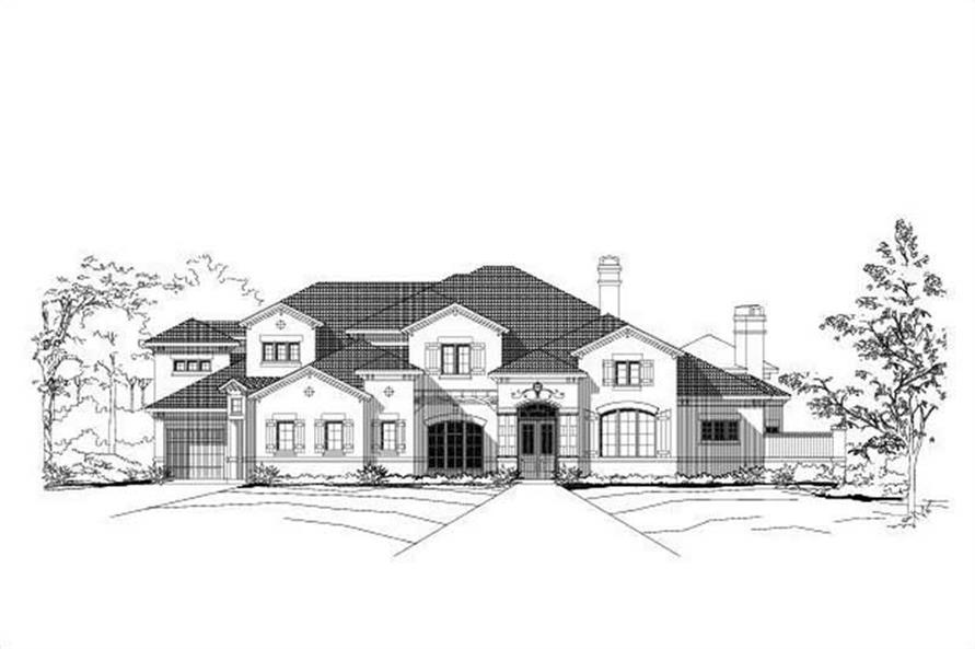 4-Bedroom, 6342 Sq Ft Mediterranean Home Plan - 156-1866 - Main Exterior