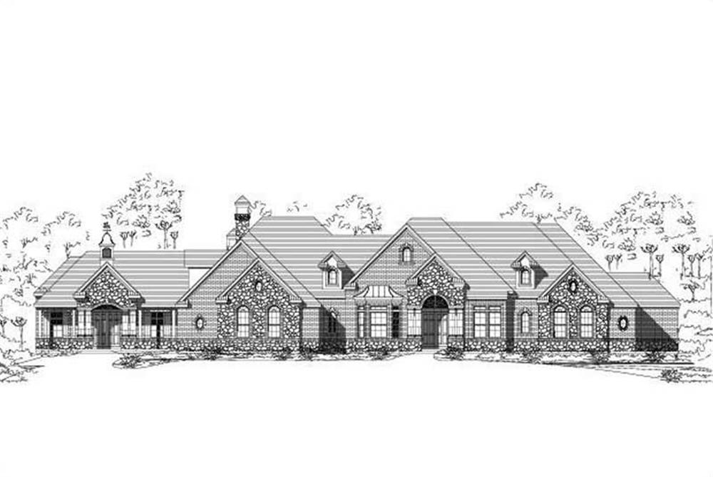 Front elevation of Country home (ThePlanCollection: House Plan #156-1867)