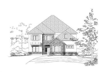 4-Bedroom, 3944 Sq Ft Country House Plan - 156-1869 - Front Exterior