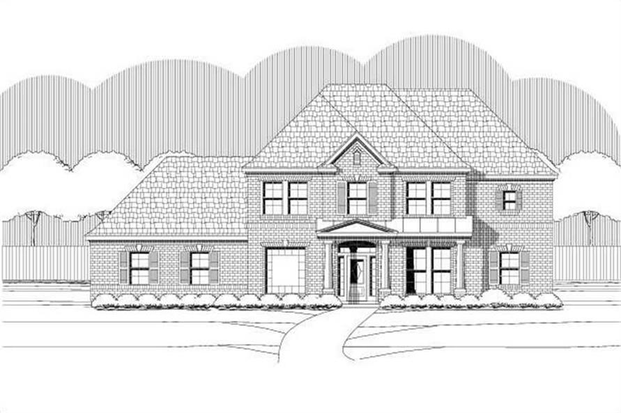 5-Bedroom, 3208 Sq Ft Traditional Home Plan - 156-1870 - Main Exterior