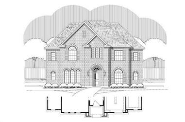 4-Bedroom, 3173 Sq Ft Traditional Home Plan - 156-1871 - Main Exterior
