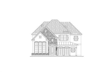 4-Bedroom, 3967 Sq Ft Country House Plan - 156-1873 - Front Exterior