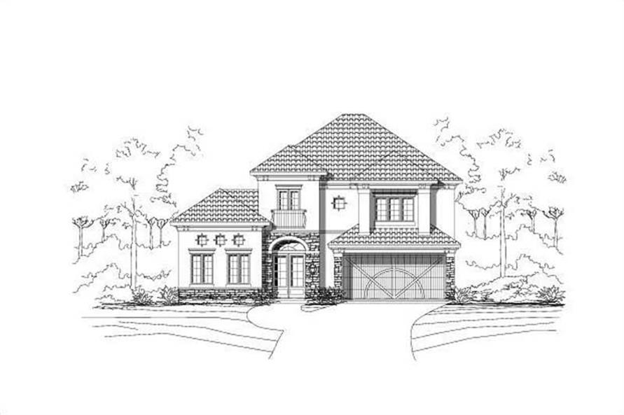 4-Bedroom, 3462 Sq Ft Mediterranean House Plan - 156-1876 - Front Exterior