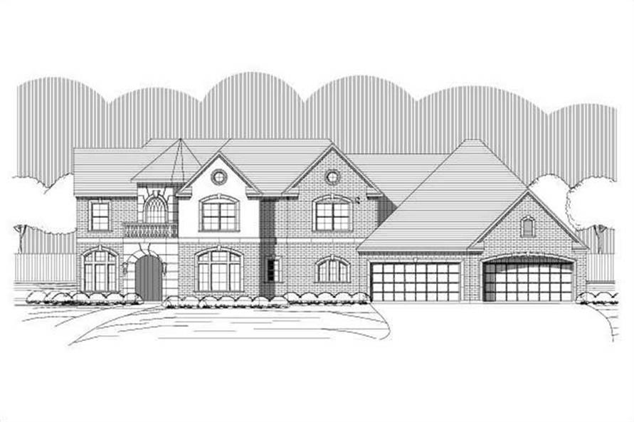 4-Bedroom, 3734 Sq Ft Luxury House Plan - 156-1877 - Front Exterior