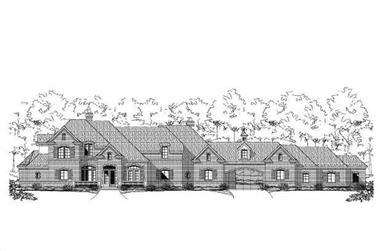 5-Bedroom, 5383 Sq Ft Country House Plan - 156-1878 - Front Exterior