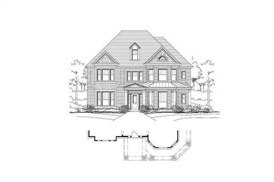 4-Bedroom, 3617 Sq Ft Luxury Home Plan - 156-1880 - Main Exterior