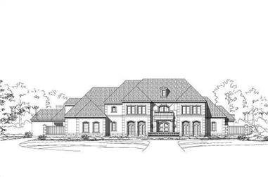 4-Bedroom, 7336 Sq Ft Luxury House Plan - 156-1883 - Front Exterior