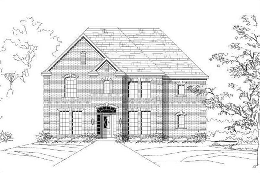 4-Bedroom, 3499 Sq Ft Luxury House Plan - 156-1884 - Front Exterior