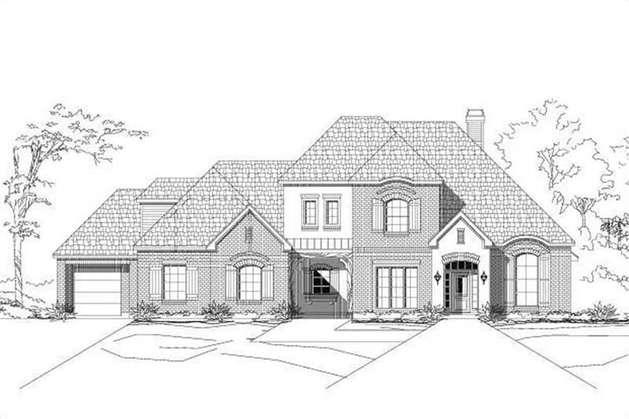 4-Bedroom, 3932 Sq Ft Country House Plan - 156-1885 - Front Exterior