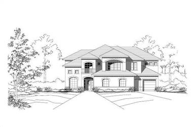 1-Bedroom, 4028 Sq Ft Luxury Home Plan - 156-1886 - Main Exterior