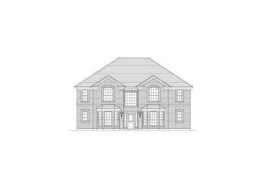 5-Bedroom, 3701 Sq Ft Luxury Home Plan - 156-1887 - Main Exterior
