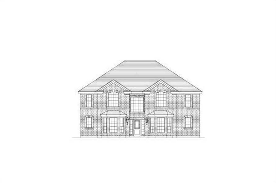 5-Bedroom, 3701 Sq Ft Luxury Home Plan - 156-1887 - Main Exterior
