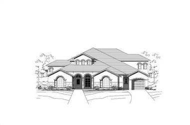 4-Bedroom, 4965 Sq Ft Luxury House Plan - 156-1890 - Front Exterior