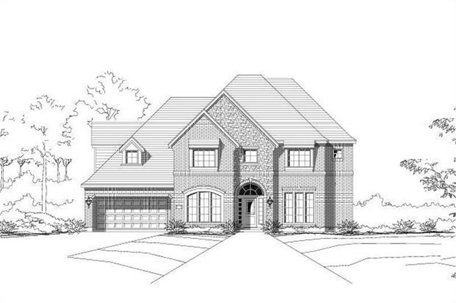 4-Bedroom, 4079 Sq Ft Luxury House Plan - 156-1892 - Front Exterior