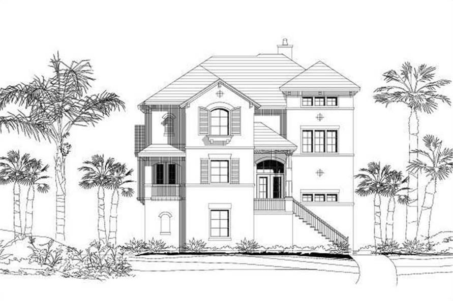 3-Bedroom, 2834 Sq Ft Coastal Home Plan - 156-1893 - Main Exterior