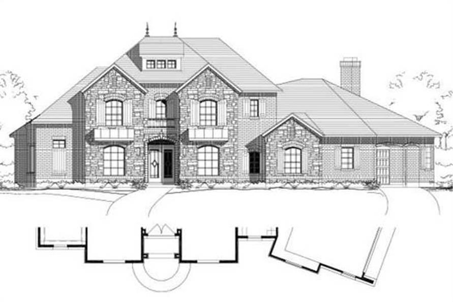4-Bedroom, 4404 Sq Ft Country House Plan - 156-1894 - Front Exterior