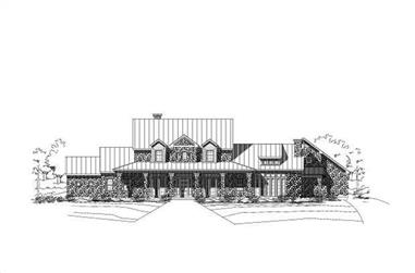 4-Bedroom, 5609 Sq Ft Country House Plan - 156-1895 - Front Exterior