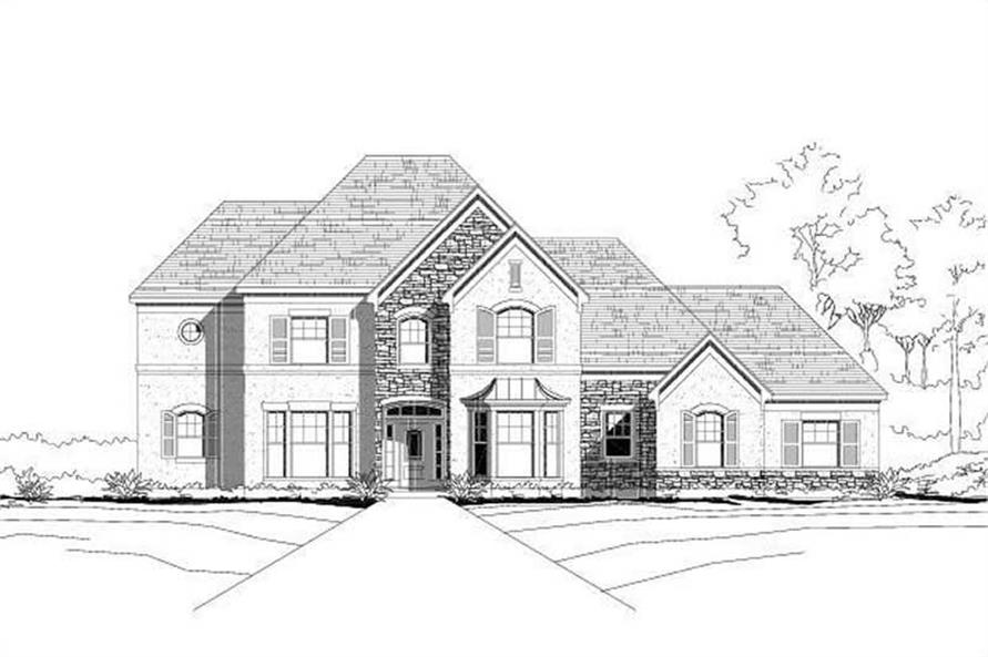 4-Bedroom, 3840 Sq Ft Country House Plan - 156-1896 - Front Exterior