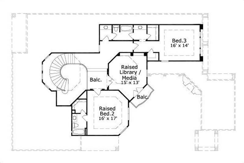 Mediterranean house plans home design ohp 1182 1 15388 for Dfd house plans 1897